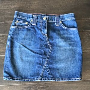 J Crew denim jean mini skirt